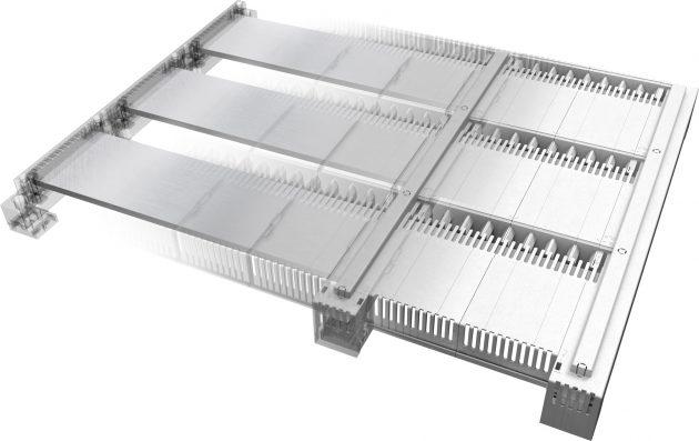 Bei dem Abdecksystem CrossLink-185Power sorgen Schottwände zwischen den Phasen und vorderseitige Schlitzabdeckungen für mehr Sicherheit. Das System ist auch für die Kontaktierung von Produkten anderer Hersteller offen. (Bilder: Wöhner GmbH & Co. KG)