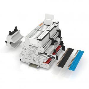Neues platzsparendes Konzept für Relaiskoppler: Die IRC-Module sind nur 6,2 mm breit (Bild: Conta-Clip Verbindungstechnik GmbH)