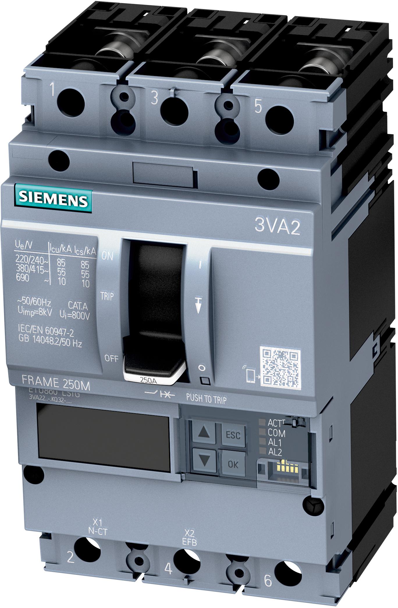 Kompaktleistungsschalter für Bemessungsstrom bis 250A ...