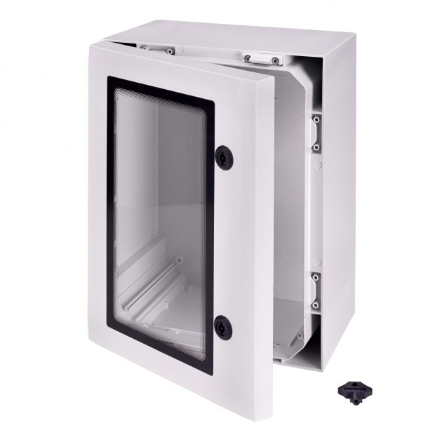Polycarbonat-Schaltschränke mit Sichttür