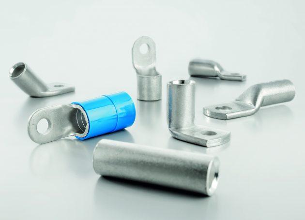 Ebenfalls neu im Programm sind unterschiedliche Kabelschuhe für große Querschnitte. (Bild: Weidmüller GmbH & Co. KG)