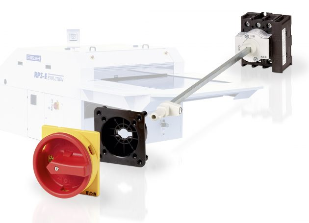 Bei den Lasttrennschaltern P1 und P3 ermöglichen Varianten mit metallischen Verlängerungsachsen die sichere und bequeme Bedienung von der Schaltschrankfront aus. (Bild: Eaton Industries GmbH)