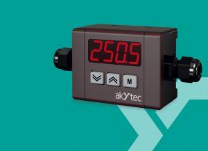 Akytec ergänzt die erfolgreiche ITP11 Digitalanzeige 4-20 mA um die neue Variante zur Wand-, Hutschienen- oder Rohrmontage. (Bild: Akytec GmbH)