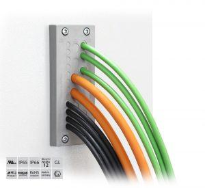 Die Kabeldurchführungsplatte KEL-DPZ 24 von Icotek gibt es in acht unterschiedlichen Ausführungen. (Bild: icotek GmbH)