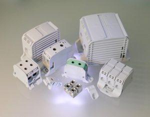 Aluminium-Reihenklemmen mit vier Querschnitten