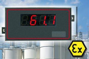 Stromschleifen-Anzeige mit Atex-Zulassung für den Schalttafeleinbau