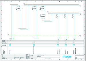 Die Erstellung des Stromlaufplans ist mit Hagercad sowohl in Tabellen- als auch in Zeichnungsansicht möglich. (Bild 4: Hager Vertriebsgesellschaft mbH & Co. KG)