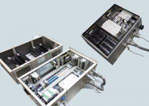 Deutlicher Vergleich: Der PerfectPitch Drive (rechts) ermöglicht wesentliche Platzeinsparungen im Achsschrank einer WEA. (Bild: SSB Wind Systems GmbH & Co. KG)