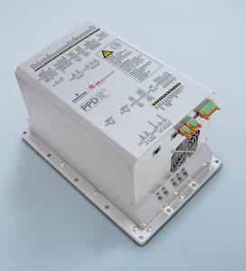 Intelligente Systemintegration: Der neue Umrichter übernimmt eine Reihe von Funktionen, für die bislang im Achsschrank zusätzliche Module notwendig waren. (Bild: SSB Wind Systems GmbH & Co. KG)