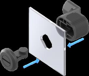 Das Vorreibersystem aus Polyamid hält selbst starker Belastung dauerhaft stand. (Bild: Emka Beschlagteile GmbH & Co. KG)