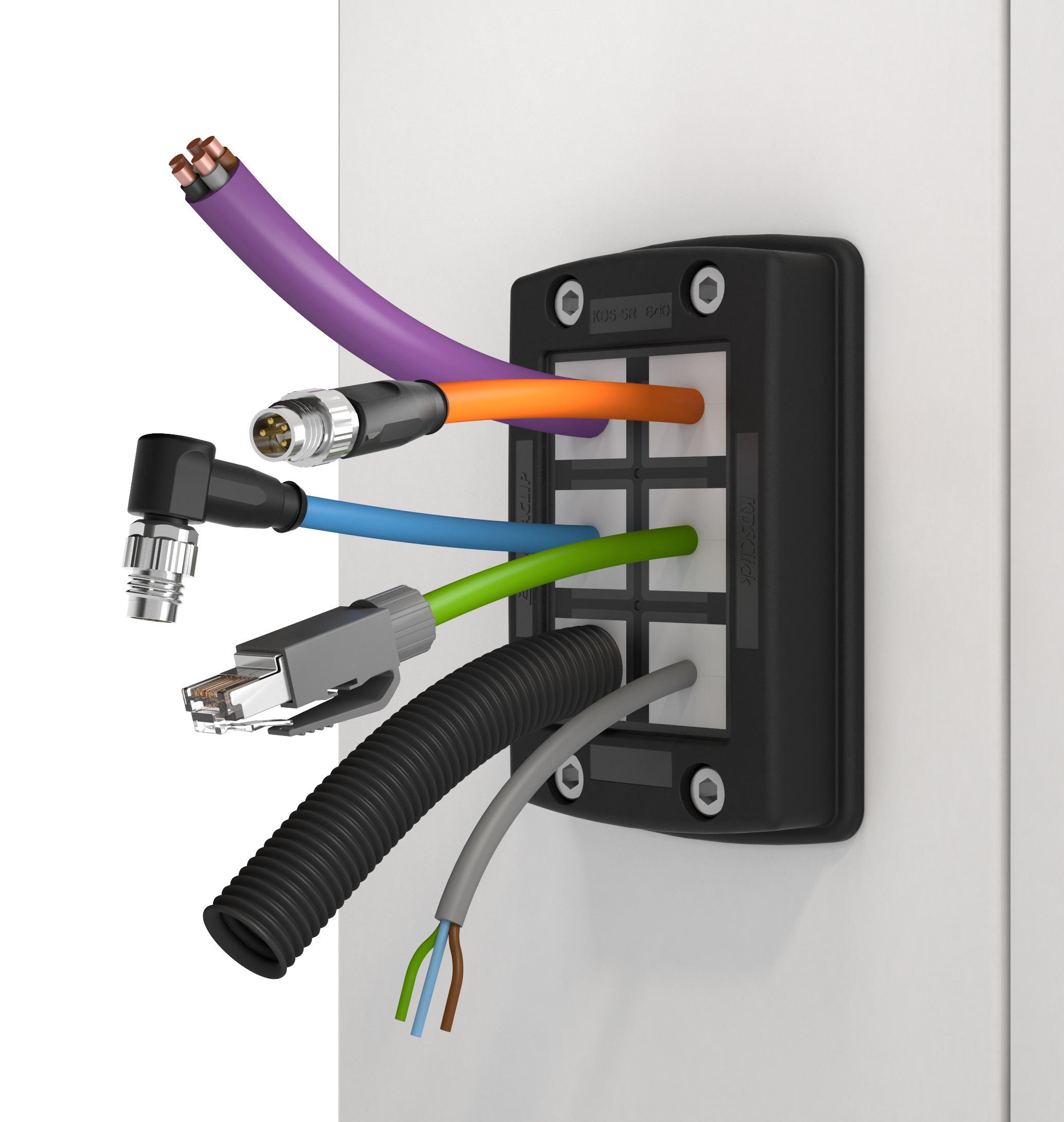 Leicht montierbare IP66 Kabeldurchführung