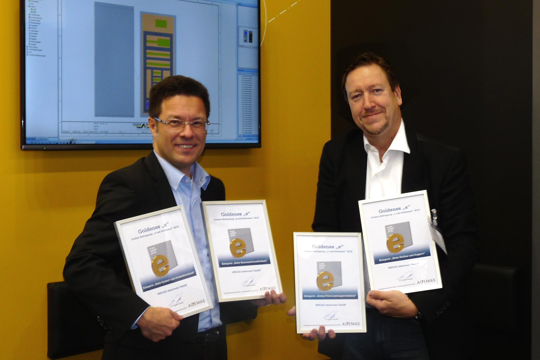E-CAD-Hersteller WSCAD gewinnt viermal das 'Goldene e 2016'