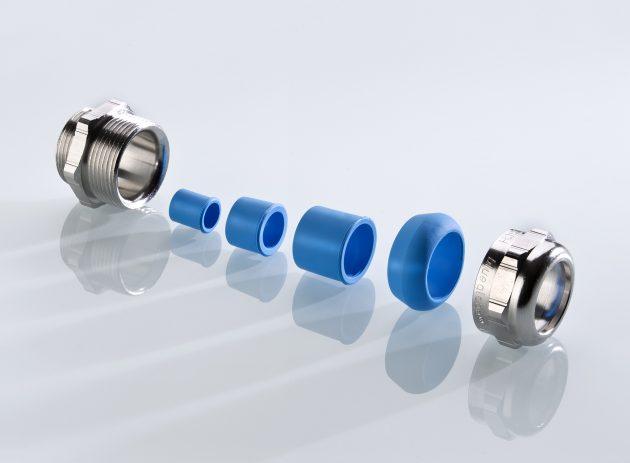 Kabelverschraubung dichtet Kabel von 6 bis 20mm Durchmesser sicher ab