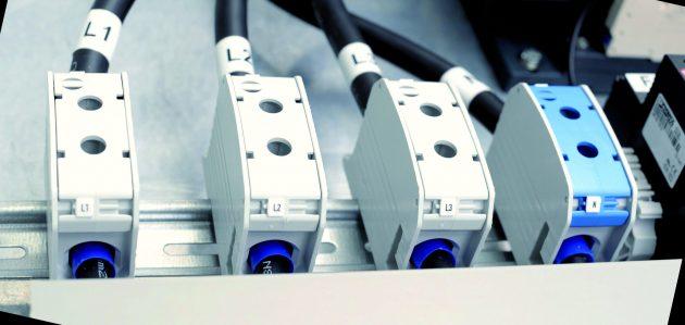 Aluminium-Reihenklemmen auch für große Leiterquerschnitte