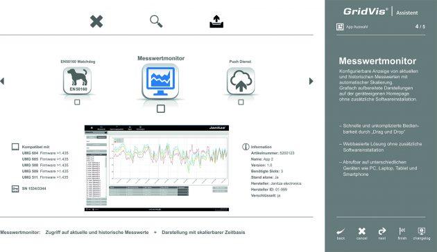 Komfortabel und schnell Apps managen (Bild: Janitza electronics GmbH)
