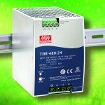 Die neuen DIN-Schienennetzteile der Serie TDR-480 haben eine Baubreite von 85,5mm. (Bild: Emtron electronic GmbH)
