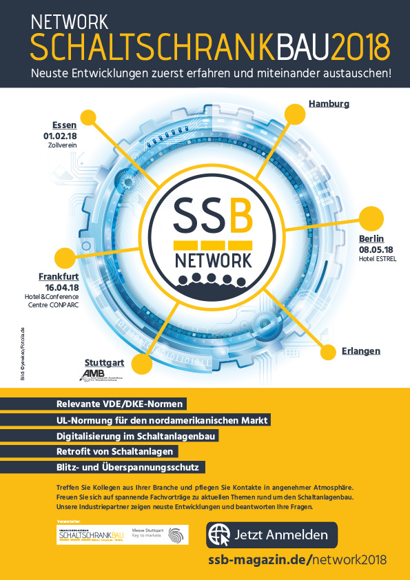 Network SCHALTSCHRANKBAU 2018 informiert über alles Wissenswerte rund um den Schaltanlagenbau