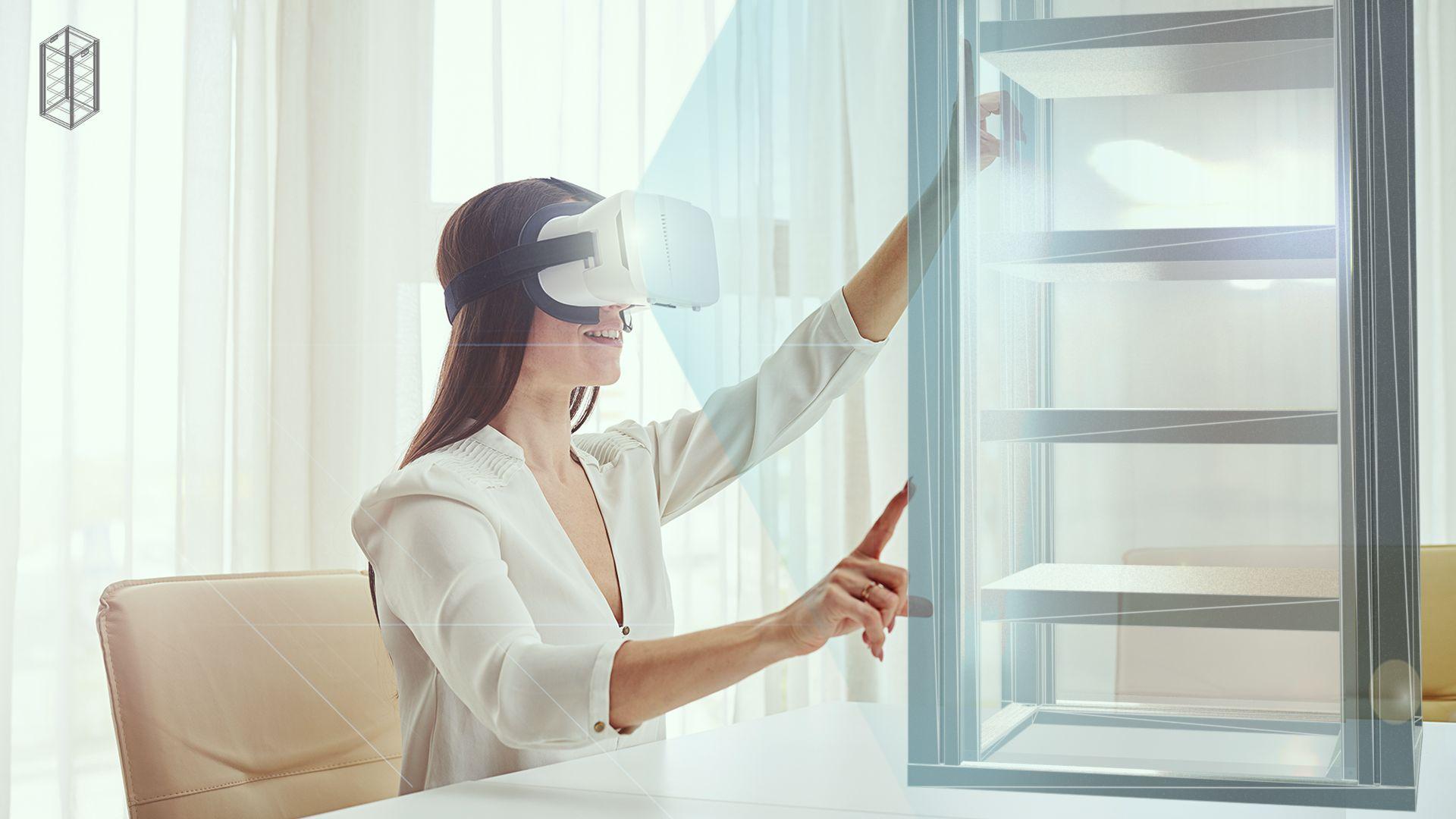 Elektronikschrank-Konfiguration im virtuellen Raum