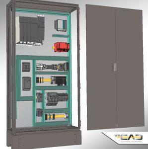 In der Disziplin Cabinet Engineering (CE) werden 3D-Daten im Step-Format f?r eine fotorealistische Darstellung sowie f?r die Berechnung und Visualisierung von Bauteilkollisionen herangezogen. (Bild: WSCAD GmbH)