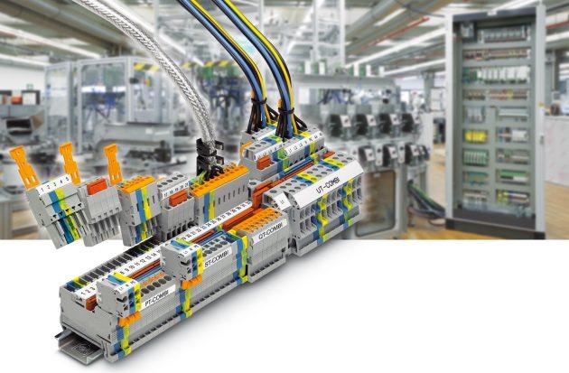Schaltschrank-Installationen werden zunehmend modular errichtet - steckbare Lösungen für die Verdrahtung und Verkabelung bringen hier Vorteile. (Bild: Phoenix Contact Deutschland GmbH)