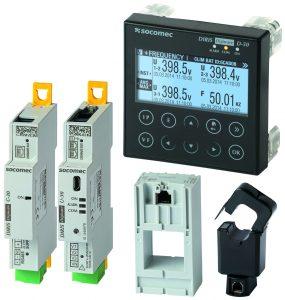 Für die Gewächshaus-Testanlage wurden Komponenten der Messlösung Diris Digiware zu einem System mit 36 Messpunkten sowie einer Anzeigeeinheit und einer Kommunikationseinheit zusammengestellt. (Bild: Socomec GmbH)