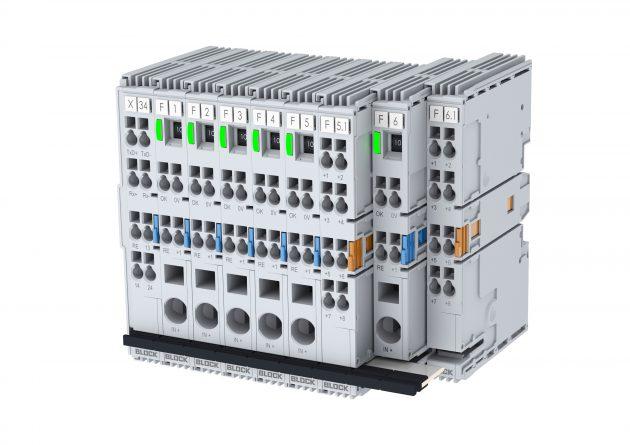 Bei Aufteilung der Sekundärseite einer zentralen DC-Stromversorgung in weitere Stromkreise, von denen nicht alle den Class 2 Werten entsprechen müssen, bietet sich hier das neue intelligente und flexible Schutzschaltersystem EasyB an. (Bild: Block Transformatoren-Elektronik GmbH)