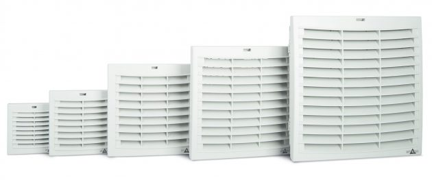 Die Filterlüfter FPI/FPO 018 zur Kühlung von Schaltschränken sorgen für mehr Luftleistung. (Bild: Stego Elektrotechnik GmbH)