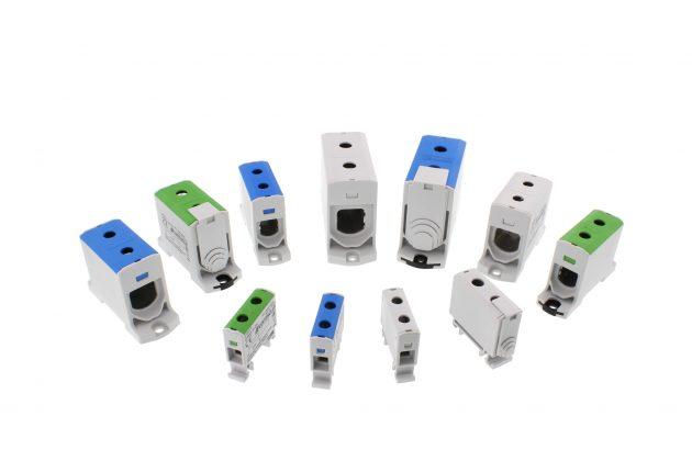 Die Baureihe SVBKA dient der einfachen Kontaktierung zweier Leiter mit Querschnitten von 1,5 bis 240mm². (Bild: Conta-Clip Verbindungstechnik GmbH)