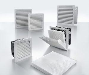 Schaltschränke effizient und wirtschaftlich kühlen, dazu offeriert Weidmüller ein umfangreiches Programm an Filterlüftern mit geringem Energieverbrauch. (Bild: Weidmüller Interface GmbH & Co. KG)