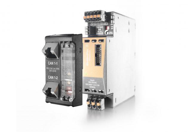 Das neue Kommunikationsmodul lässt sich zur Erfassung von produkt- und zustandsorientierten Daten einfach auf die Stromversorgung aufstecken. (Bild: Weidmüller GmbH & Co. KG)