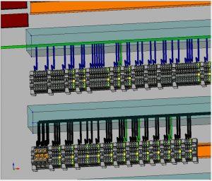 und 3 | Die Verdrahtung wird mit dem Wiring-Modul exakt geplant - die Daten lassen sich auch für die Kabelkonfektionierung nutzen. (Bilder: Elektronik Schwab GmbH)