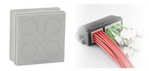 Die neue Kabeltülle DT eignet sich für eine hohe Anzahl an elektrischen, pneumatischen und hydraulischen Leitungen. (Bild: Icotek GmbH)
