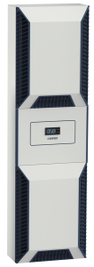 Gogaswitch SlimLine Vario: Das drehzahlgeregelte Schaltschrankkühlgerät spart Energie, schont die Umwelt und den Monteur, der es in wenigen Montageschritten alleine montiert hat. (Bild: Gogatec GmbH)
