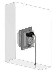 Die Entfeuchtungsgeräte der PSE 30-Serie halten die Luft im Schaltschrank trocken. Per Schlauch wird das Kondensat aus dem dichten Gerät sicher nach außen abgeleitet. (Bild: Elmeko GmbH + Co. KG)