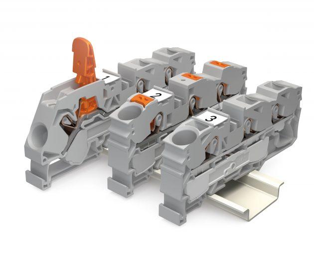 Je nach Präferenz gibt es die Wago-Reihenklemmen Topjob S jetzt mit Hebel, Drücker oder Betätigungsöffnung. (Bild: Wago Kontakttechnik GmbH & Co. KG)