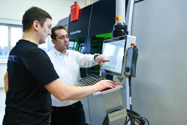 Der Service ist einer der Hauptgründe gewesen, warum Sedotec Bystronic als Maschinenhersteller gewählt hat. (Bild: Sedotec GmbH &Co. KG)