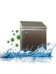 Das neue Hygieneschrank-System von Häwa kommt mit nur einer Dichtung aus. (Bild: Häwa GmbH)