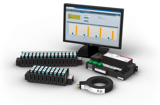 Das Messsystem SEM3 wird in der Energie-Hauptverteilung eingesetzt und besteht aus Stromwandlern, Messmodulen und einem zentralen Controller. Das skalierbare Komplettsystem kann bis zu 45 Messpunkte im Gebäude erfassen. (Bild: Siemens AG)