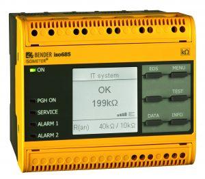 Das Isolationsüberwachungsgerät Isometer Iso685-D-P von Bender (Bild: Bender GmbH & Co. KG)