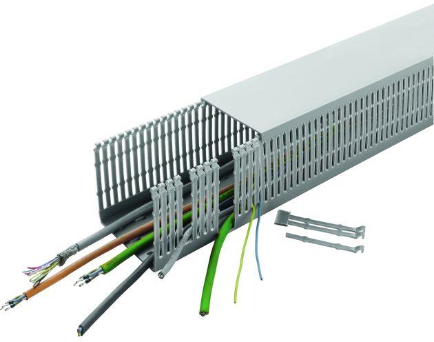 Hohe Formstabilität, einfache Konfektionierung: UL- und VDE-zertifizierte Verdrahtungskanäle von Conta-Clip (Bild: Conta-Clip Verbindungstechnik GmbH)
