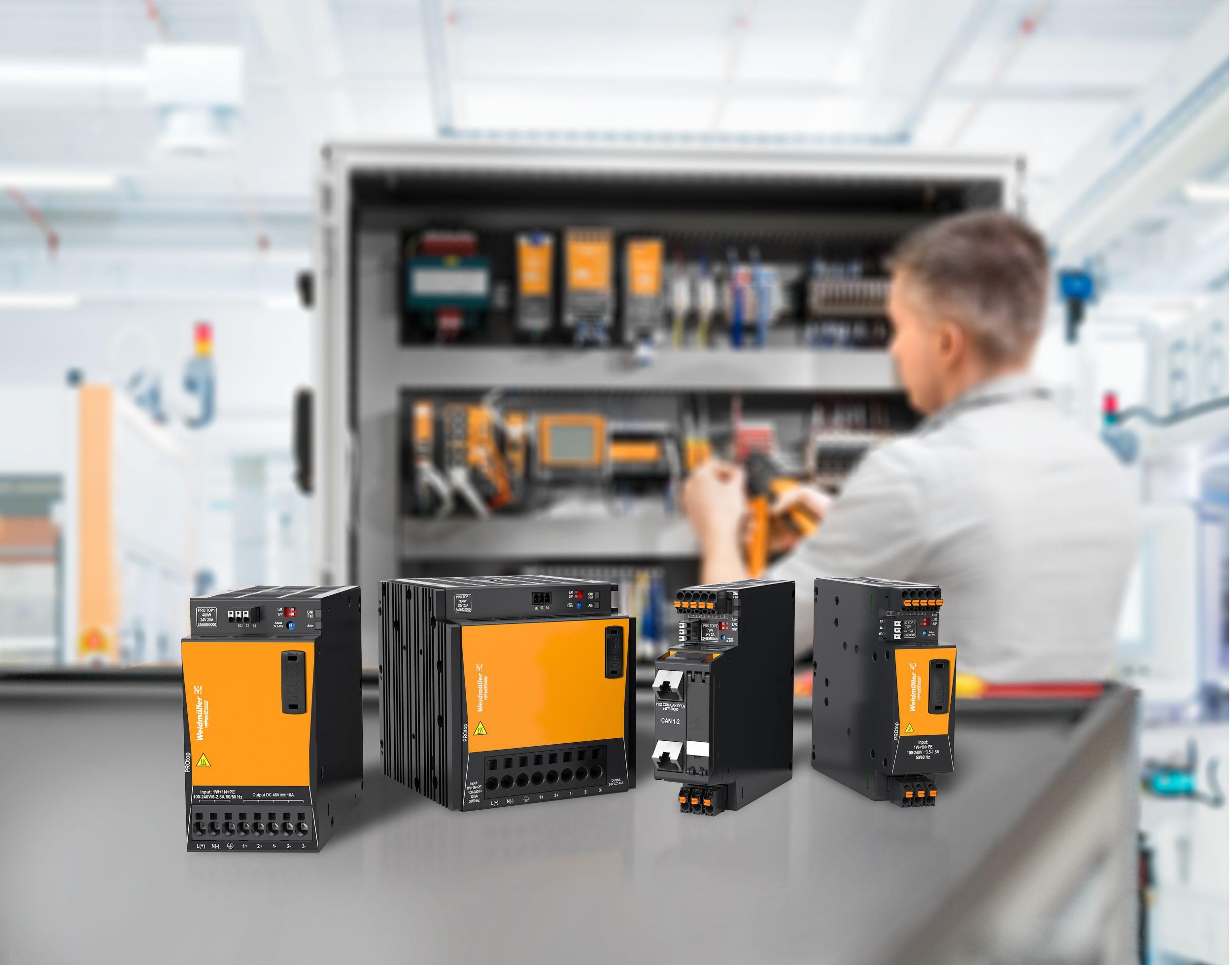 Protop ist eine Stromversorgung für hohe Ansprüche mit einem sehr großen Dynamikbereich dank DCL-Technologie. (Bild: Weidmüller GmbH & Co. KG)