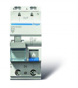 Hager bietet sein umfassendes Sortiment mit 24 AFDDs als feste Kombinationen von Fehlerlichtbogen-Schutzeinrichtungen und LS-Schaltern an. (Bild: Hager Vertriebsgesellschaft mbH & Co. KG)