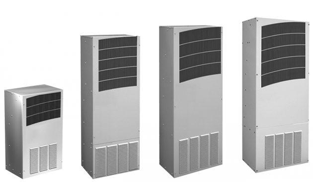 Die Kühlgeräte der T-Serie verfügen über eine integrierte Heizung, so dass Schaltschränke mit nur einem Gerät beim Umgebungstemperaturen von -40°C bis +55°C gekühlt und beheizt werden können. (Bild: Elmeko GmbH + Co. KG)