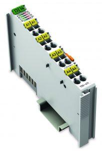 Das Vier-Kanal-Analogmodul mit galvanisch getrennten Eingängen eignet sich für Anwendungen, bei denen es auf hohe Störunempfindlichkeit ankommt. (Bild: Wago Kontakttechnik GmbH & Co. KG)