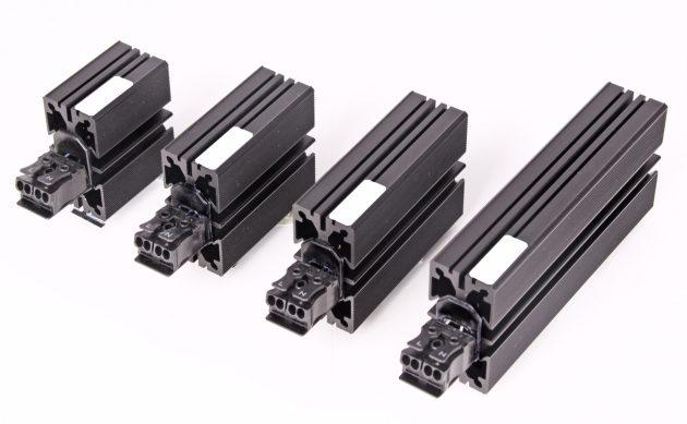 Für kleine Elektronikgehäuse hat Elmeko die Miniheizungen SM 10 bis SM 45 entwickelt. Die vier Typen messen im Querschnitt 30x60mm und in der Länge zwischen 80 und 170mm. Sie erreichen bei +20°C Heizleistungen von 10 bis 45W. Ihre Oberflächentemperaturen liegen dabei bei +65 bis +85°C. SM45. (Bild: Elmeko GmbH + Co. KG)