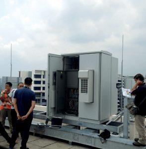 Test der Kühlgeräte DTS 3165 (Bild: Pfannenberg Europe GmbH)
