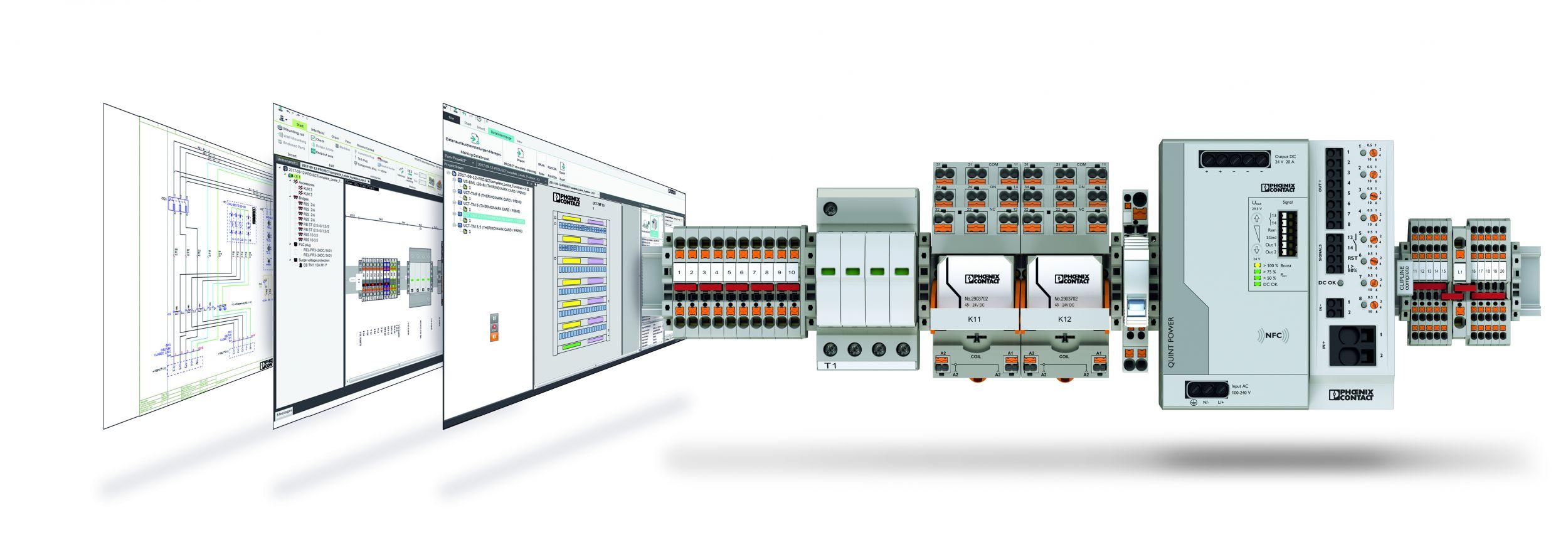 Für alle Phasen der Klemmenleisten-Projektierung: Project Complete unterstützt von der Elektro planung bis zur Lieferung des fertigen Produkts. (Bild: Phoenix Contact GmbH & Co. KG)