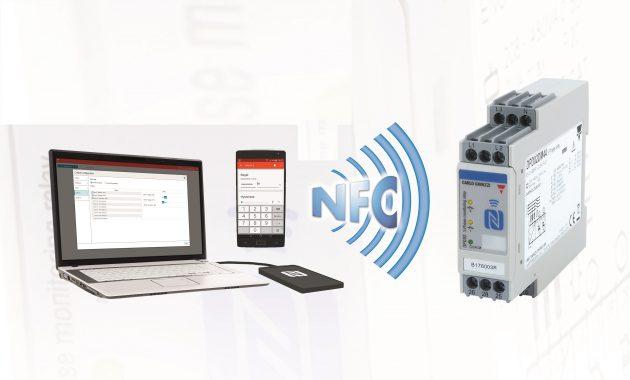 Über eine NFC-Schnittstelle kann das Überwachungsrelais DPD von Carlo Gavazzi von Smartphone oder Tablet aus konfiguriert werden. (Bild: Carlo Gavazzi GmbH)