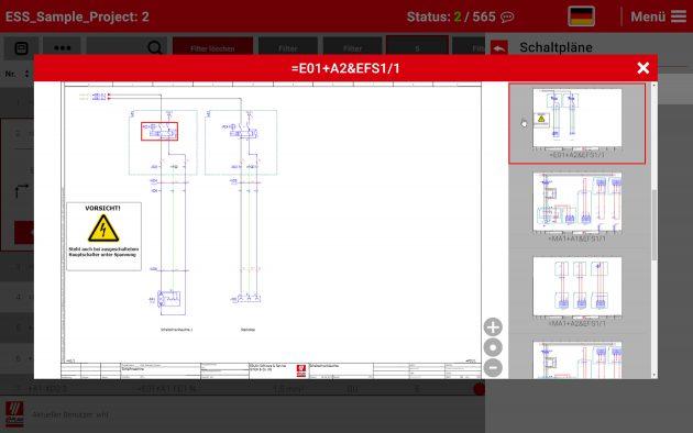 Ausgehend von einer Verbindung kann jederzeit in den Schaltplan referenziert werden - das gibt Planungssicherheit. (Bild: Eplan Software & Service GmbH & Co. KG)
