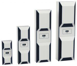 Mit vier verschiedenen Gehäuseformaten deckt die Kühlgeräteserie die gesamte Spanne an Nutzkühlleistung zwischen 350W und 6,2 kW ab. (Bild: Seifert Systems GmbH)